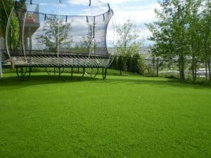 Trampolines and Artificial Grass Play Areas